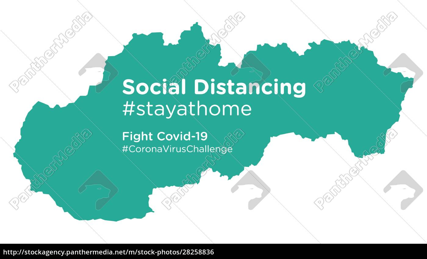 slovakia, map, with, social, distancing, stayathome - 28258836