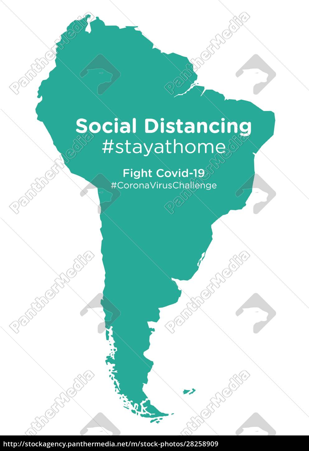 south, american, continent, map, with, social - 28258909
