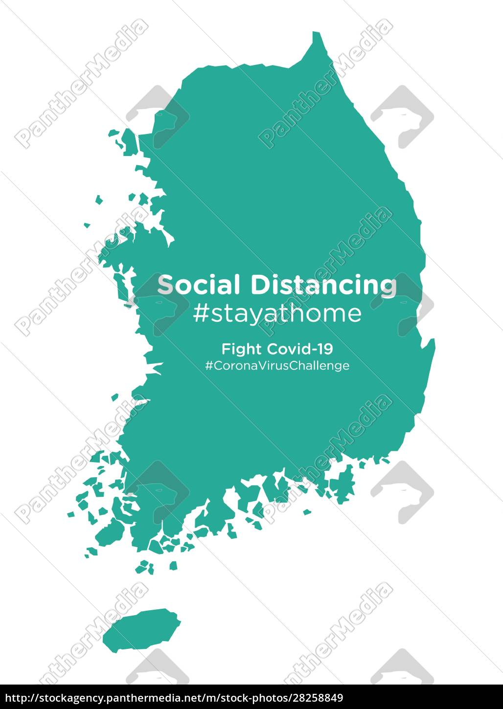 south, korea, map, with, social, distancing - 28258849