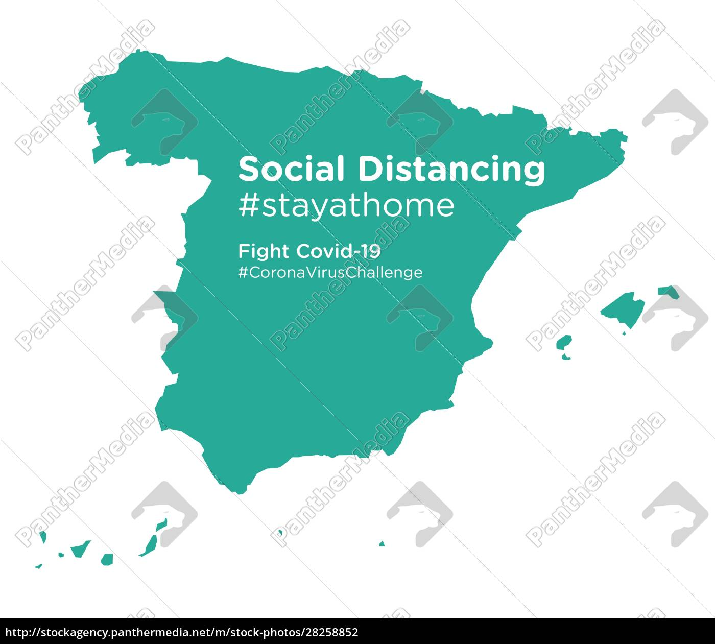 spain, map, with, social, distancing, #stayathome - 28258852