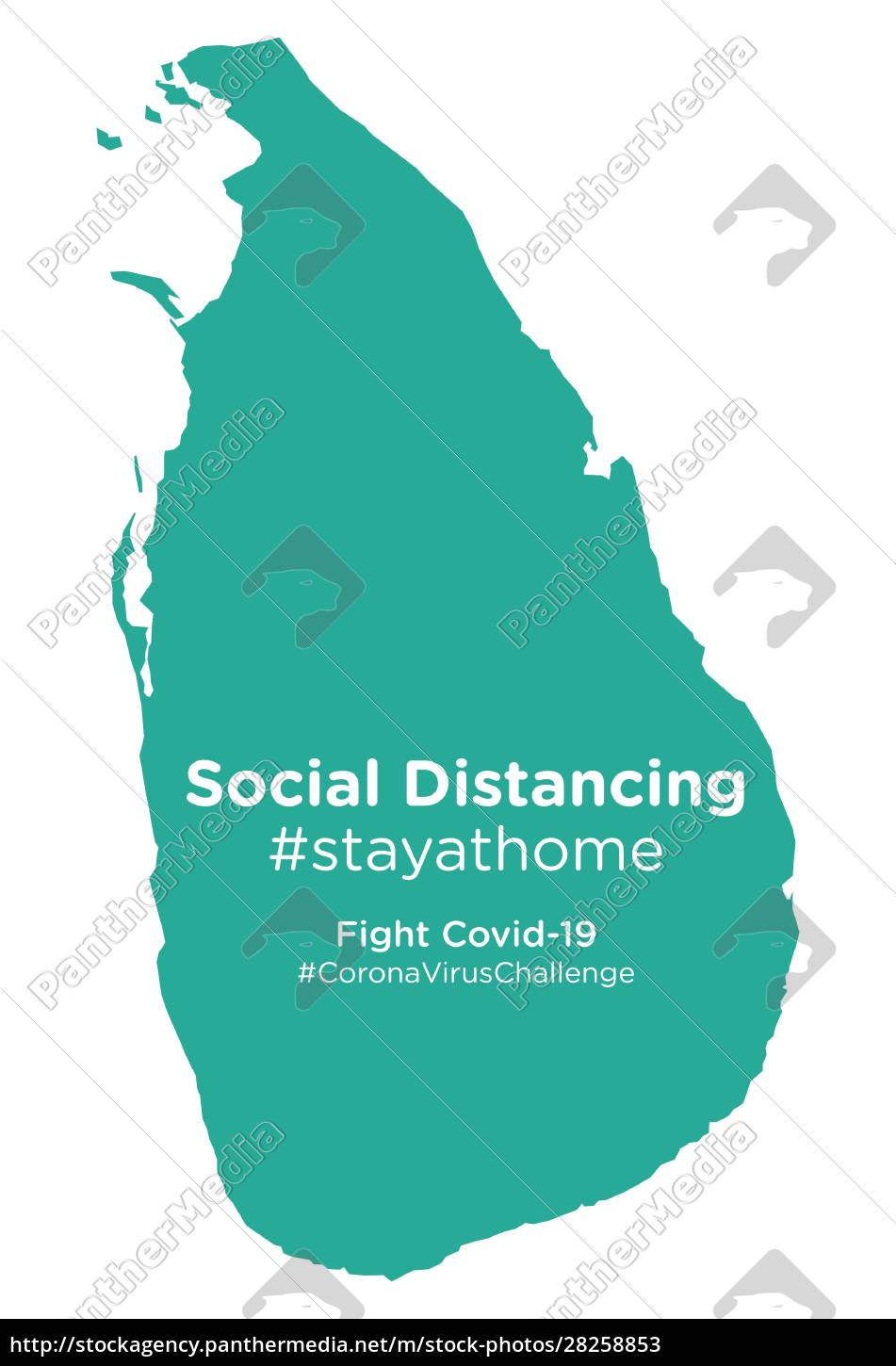 sri, lanka, map, with, social, distancing - 28258853