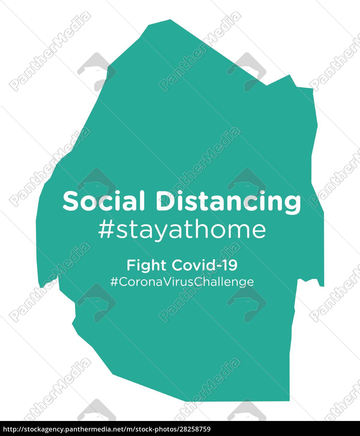 swaziland, map, with, social, distancing, stayathome - 28258759