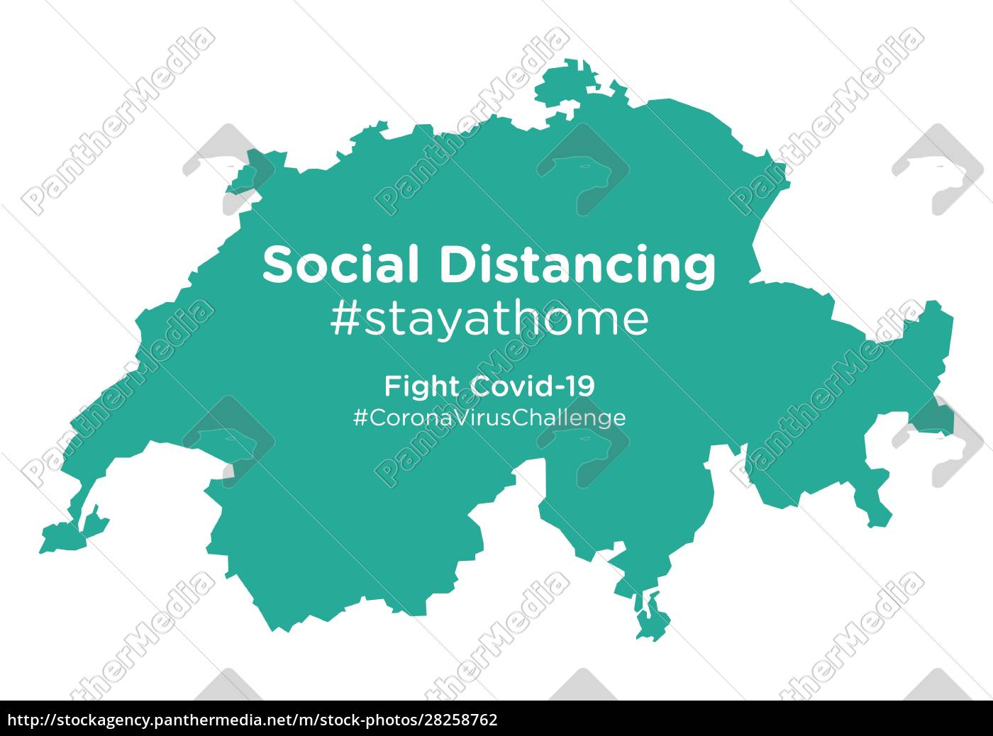 switzerland, map, with, social, distancing, #stayathome - 28258762