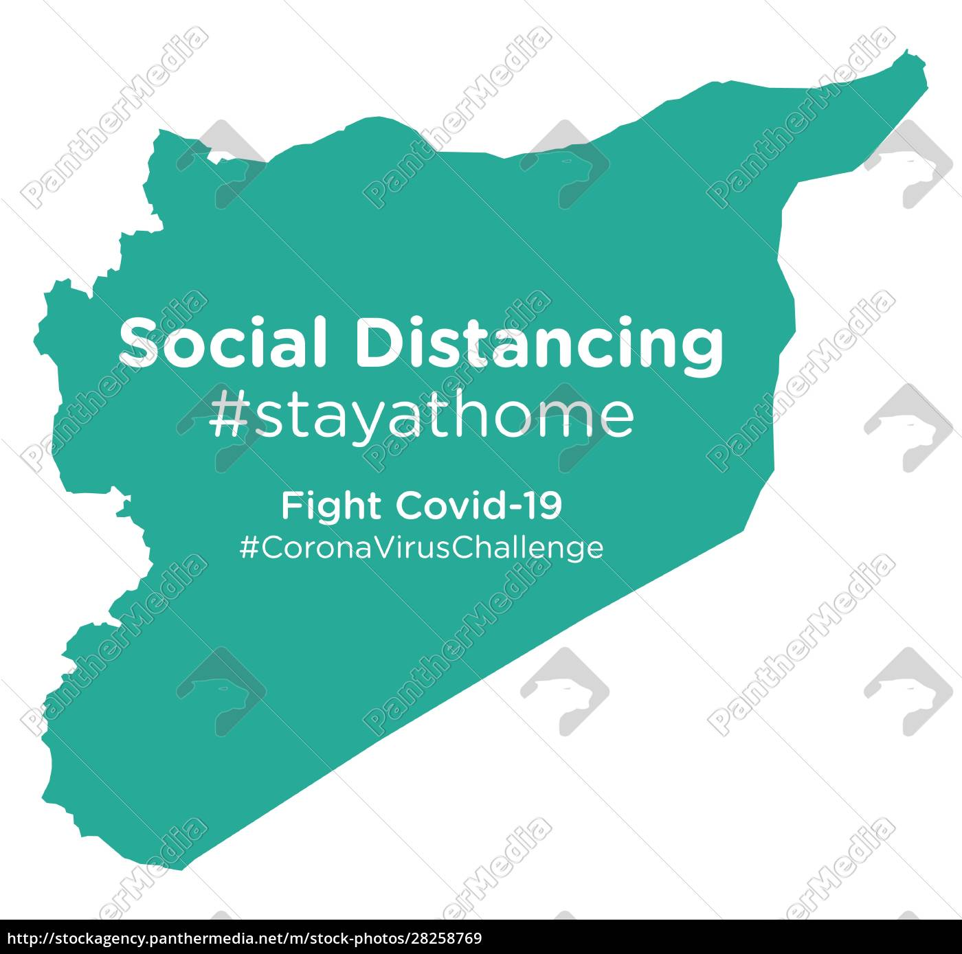 syria, map, with, social, distancing, stayathome - 28258769