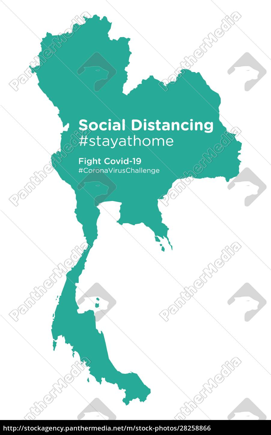 thailand, map, with, social, distancing, stayathome - 28258866