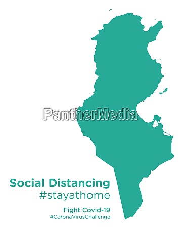 tunisia, map, with, social, distancing, stayathome - 28258869