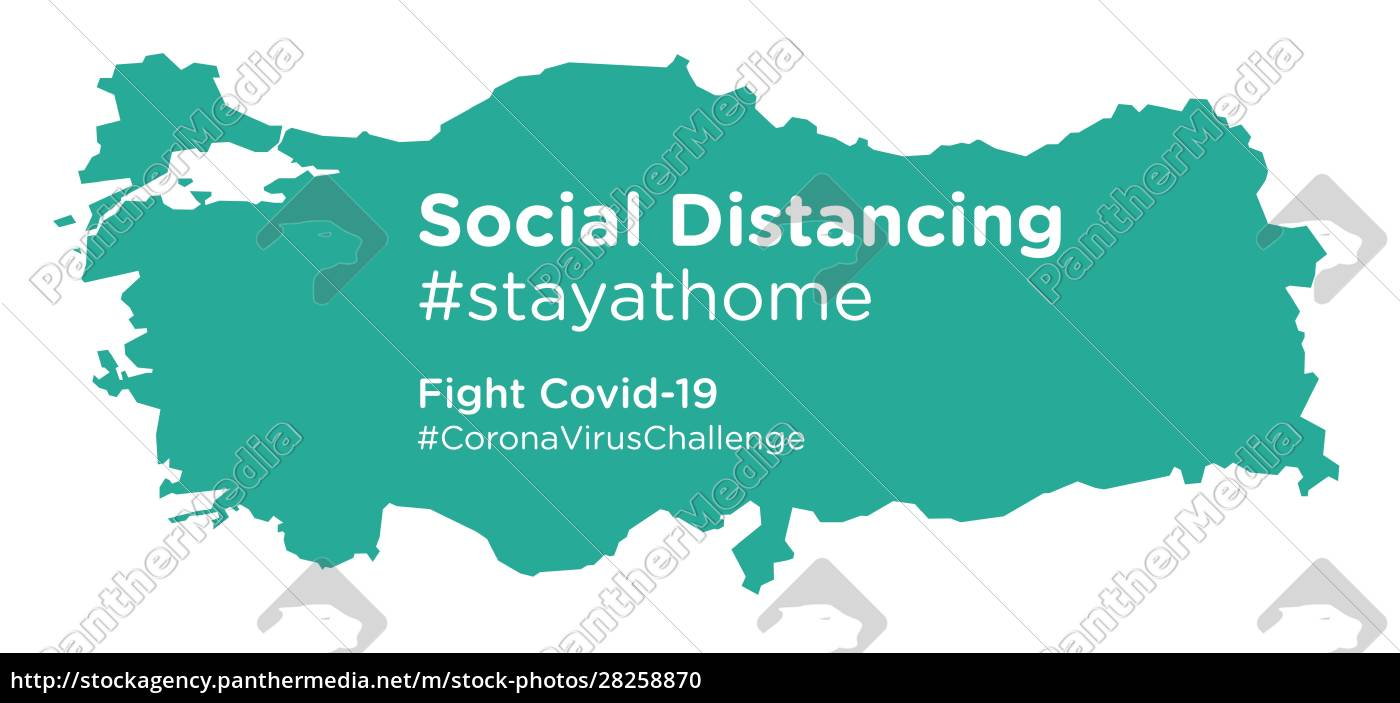 turkey, map, with, social, distancing, stayathome - 28258870