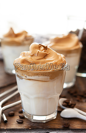 whipped, coffee, in, a, glass - 28258040
