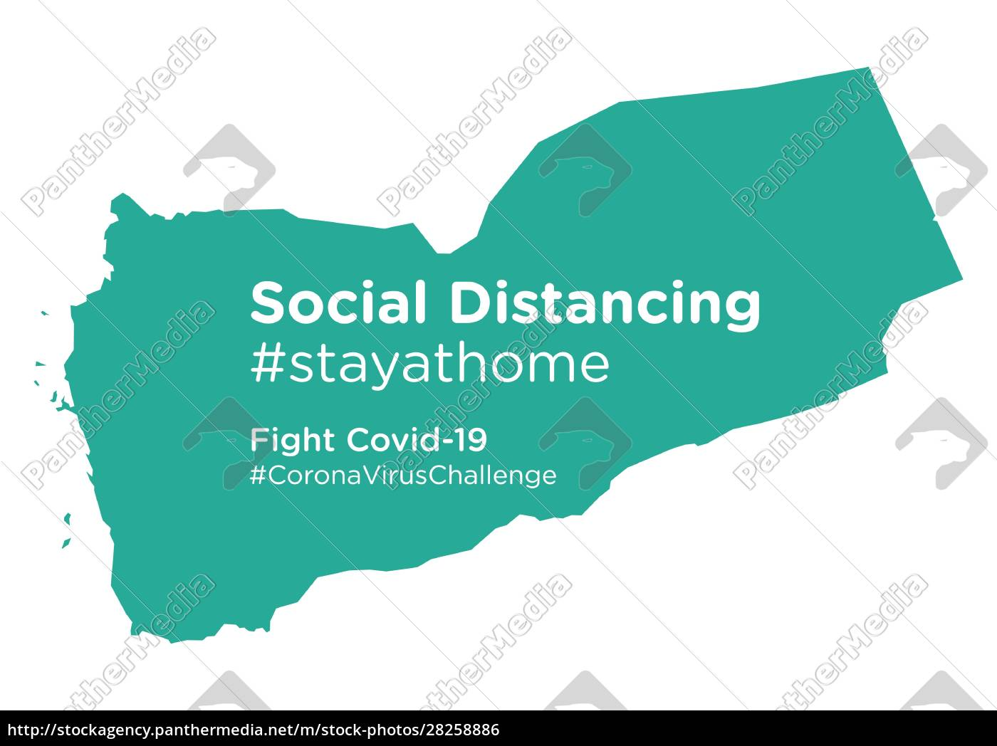 yemen, map, with, social, distancing, stayathome - 28258886