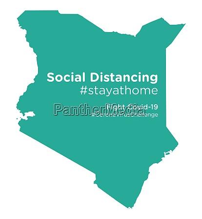 kenya map with social distancing stayathome