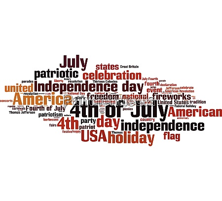 4th of july word cloud