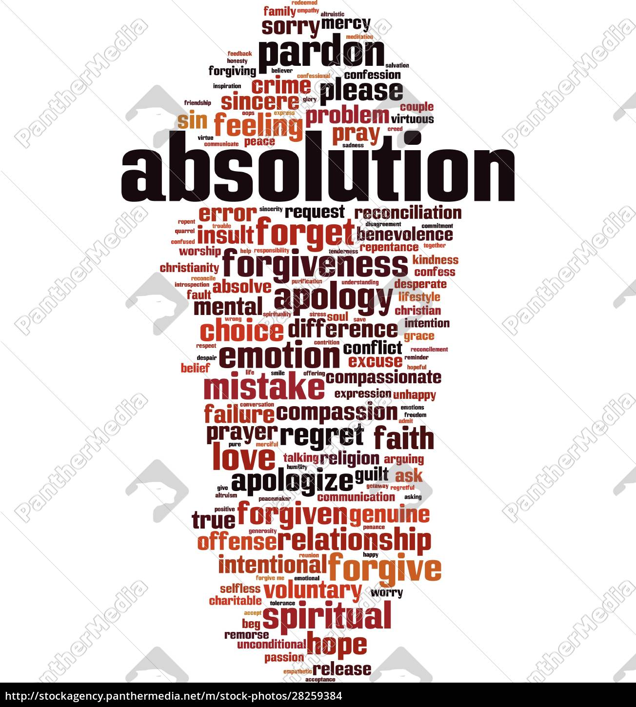 absolution, word, cloud - 28259384