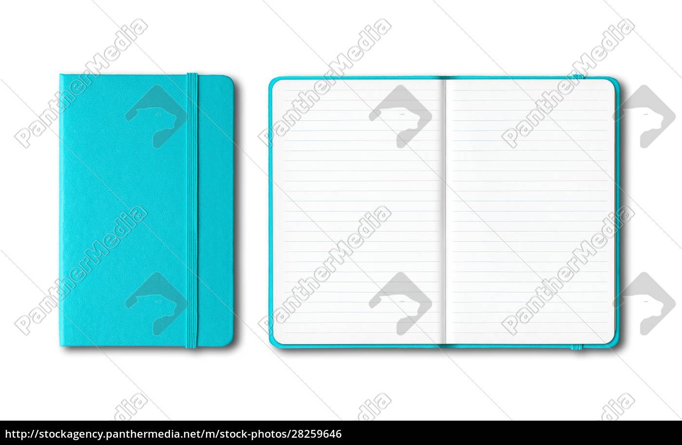 aqua, blue, closed, and, open, lined - 28259646