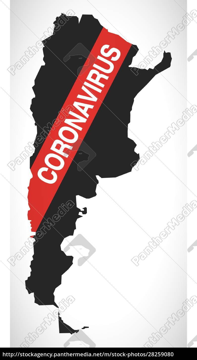 argentina, map, with, coronavirus, warning, illustration - 28259080