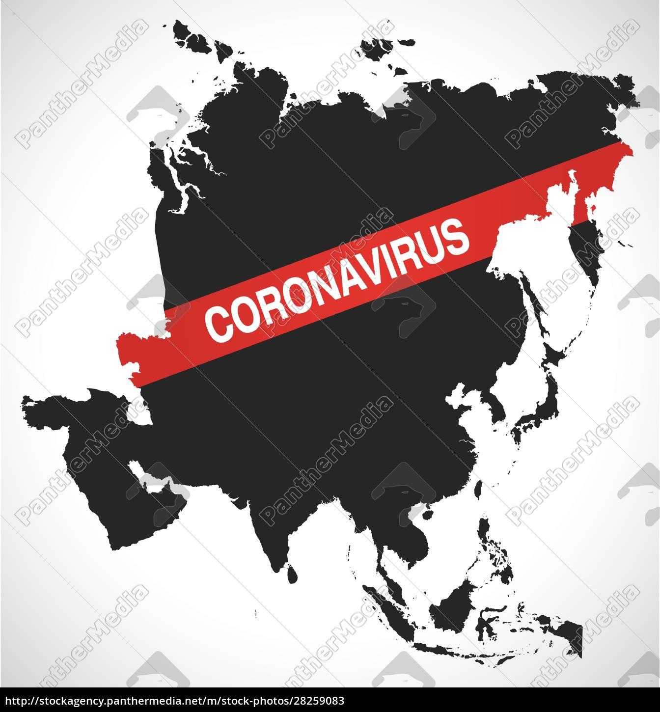 asia, map, with, coronavirus, warning, illustration - 28259083