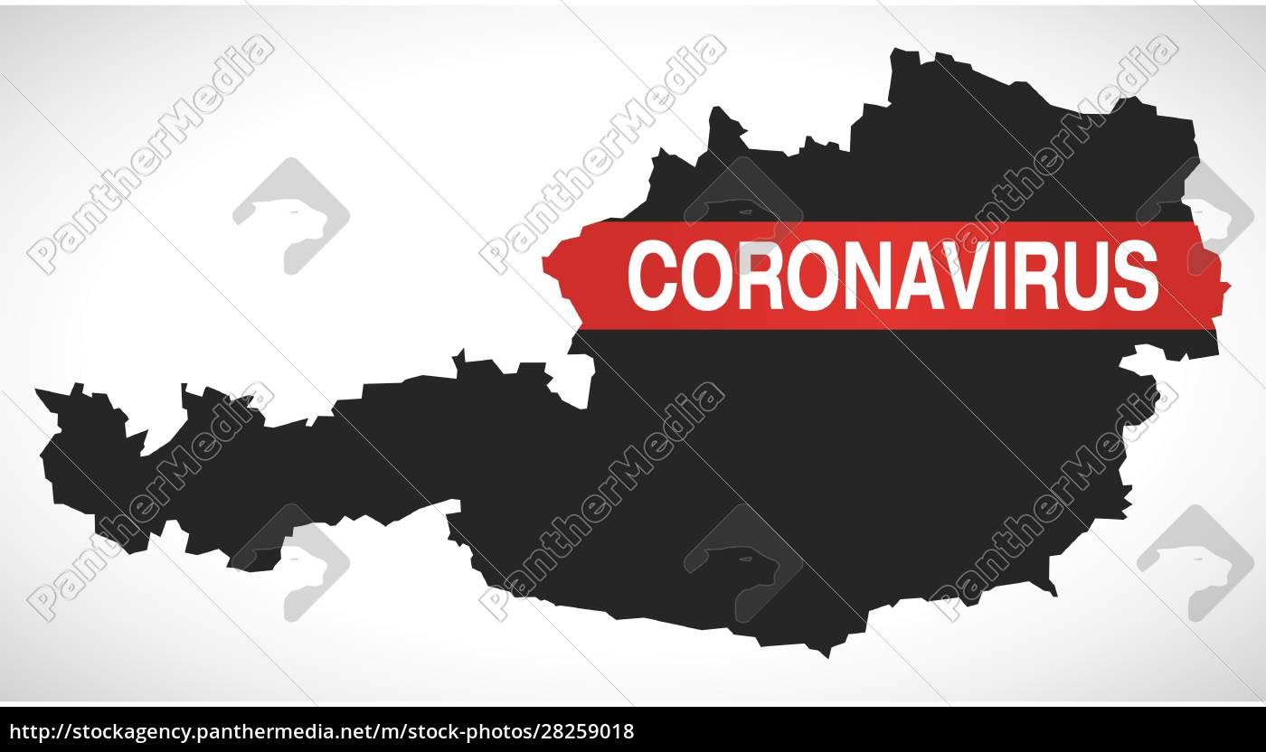 austria, map, with, coronavirus, warning, illustration - 28259018