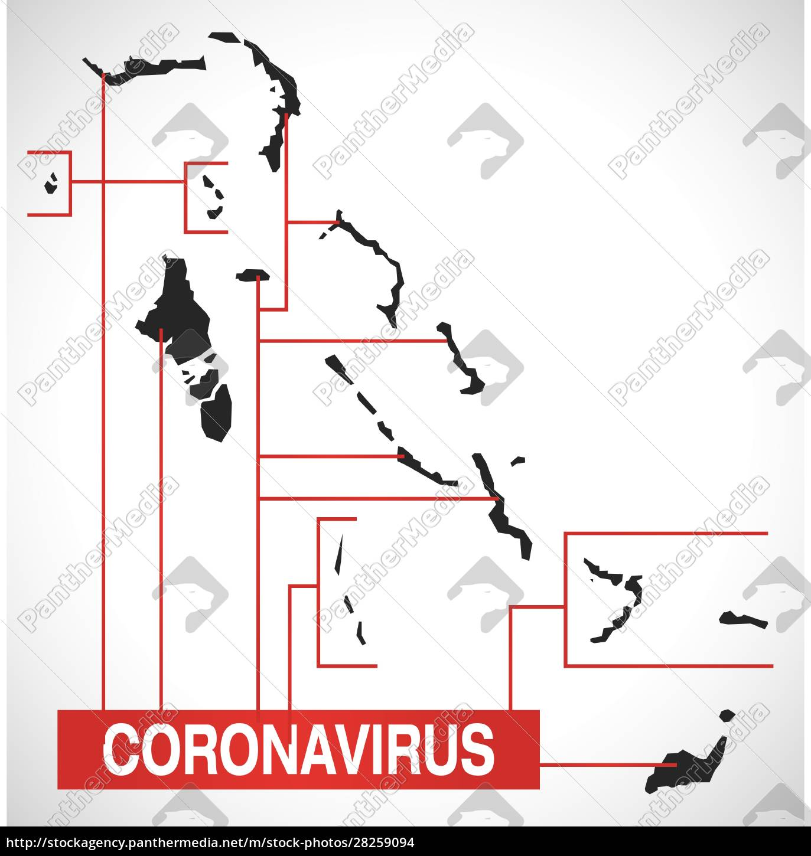 bahamas, map, with, coronavirus, warning, illustration - 28259094