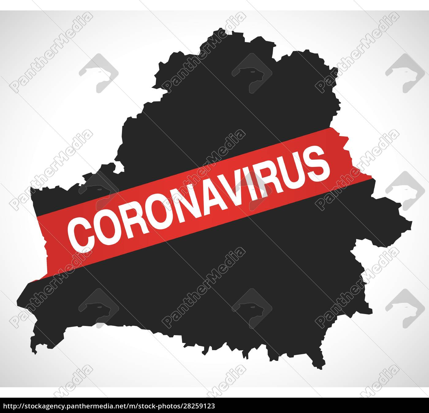 belarus, map, with, coronavirus, warning, illustration - 28259123