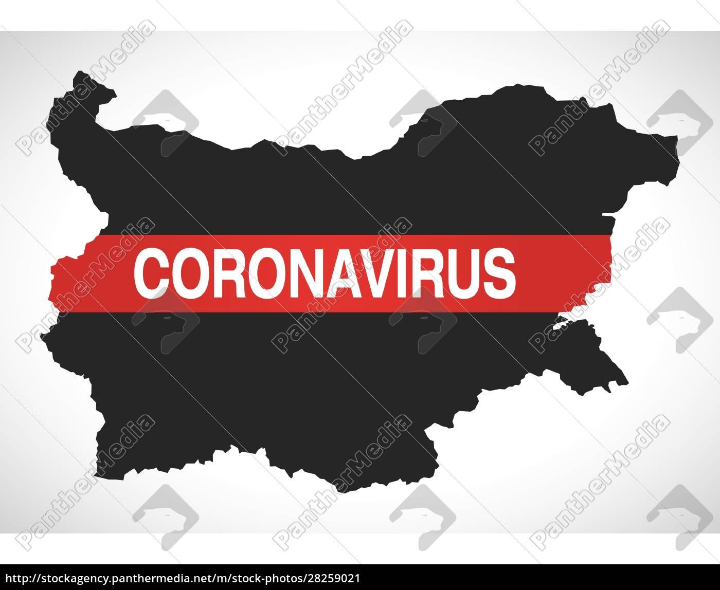 bulgaria, map, with, coronavirus, warning, illustration - 28259021