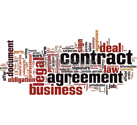 contract, word, cloud - 28259493