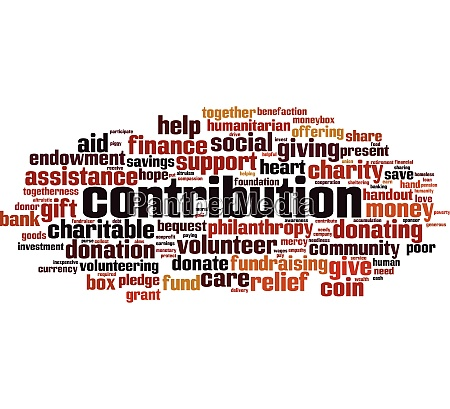 contribution, word, cloud - 28259494