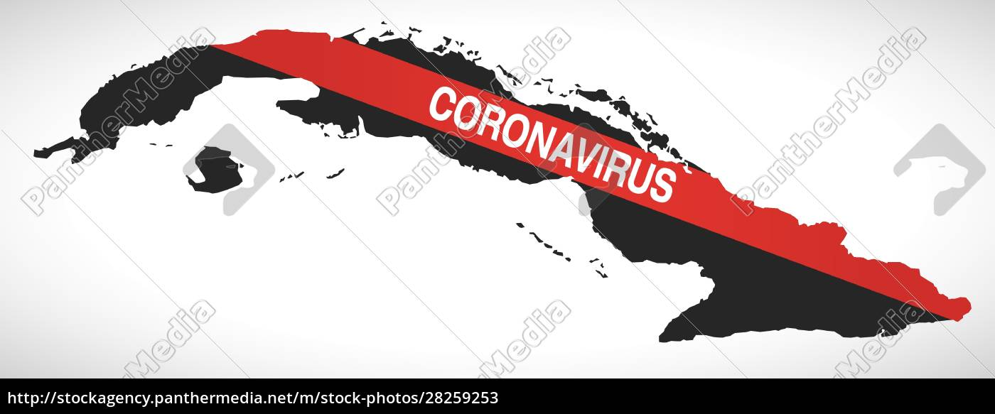cuba, map, with, coronavirus, warning, illustration - 28259253