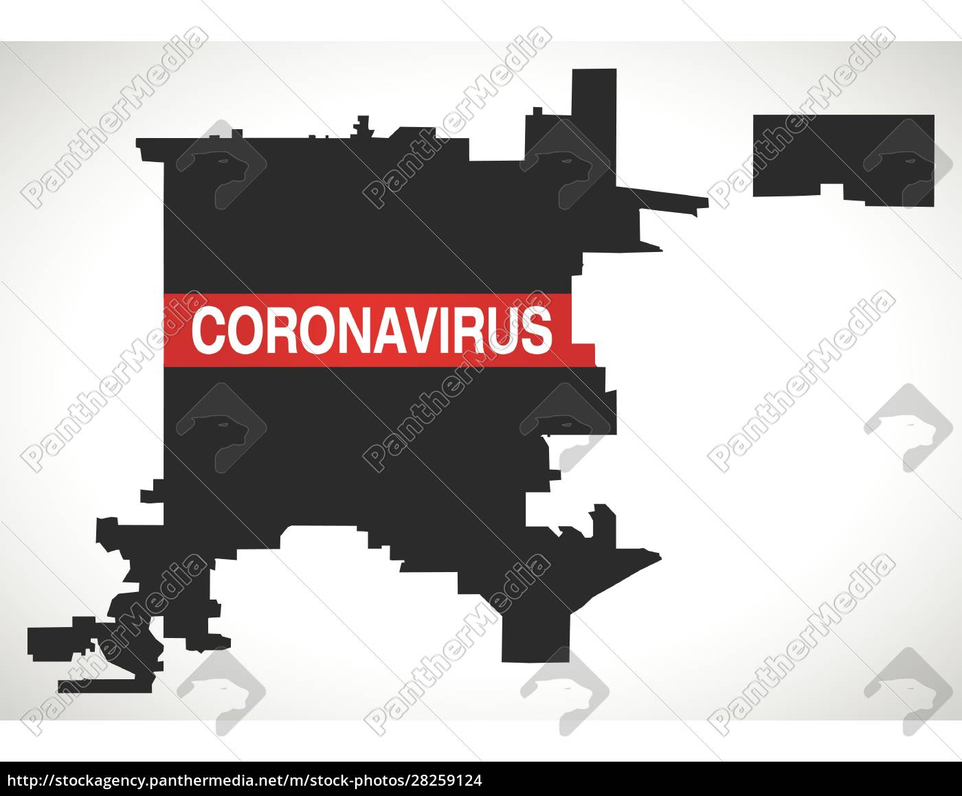 denver, colorado, city, map, with, coronavirus - 28259124