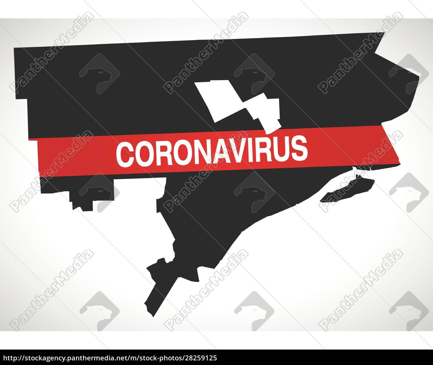 detroit, michigan, city, map, with, coronavirus - 28259125
