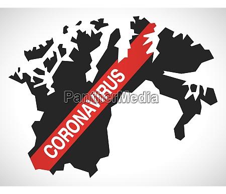 finnmark, norway, county, map, with, coronavirus - 28259534
