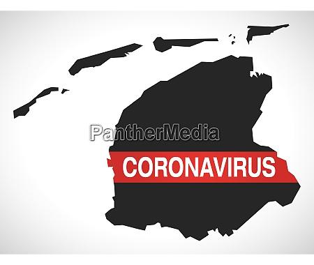 fryslan, netherlands, province, map, with, coronavirus - 28259398