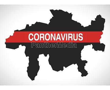 graubuenden, switzerland, canton, map, with, coronavirus - 28259391