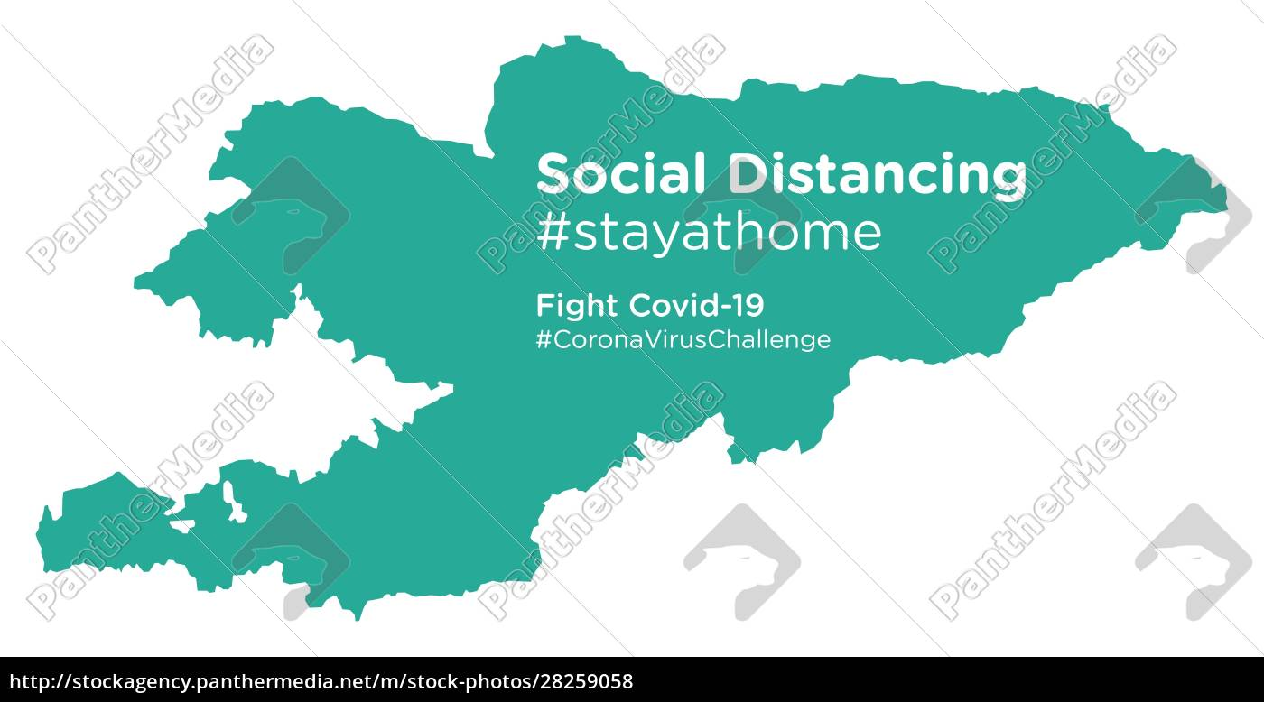kyrgyzstan, map, with, social, distancing, stayathome - 28259058