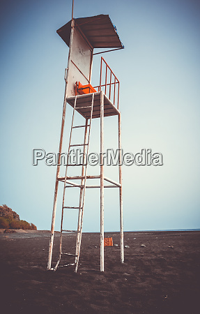 lifeguard, tower, chair, in, fogo, island, - 28259736