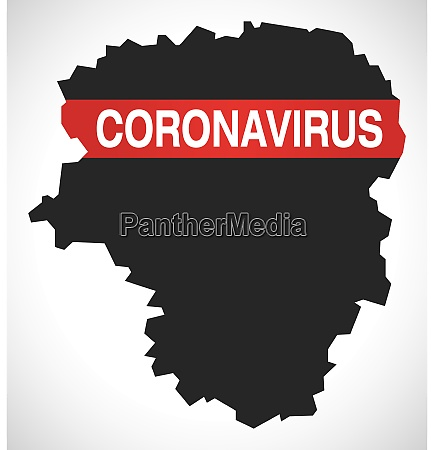 limousin, france, region, map, with, coronavirus - 28259427