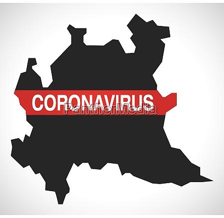 lombardy, italy, region, map, with, coronavirus - 28259429