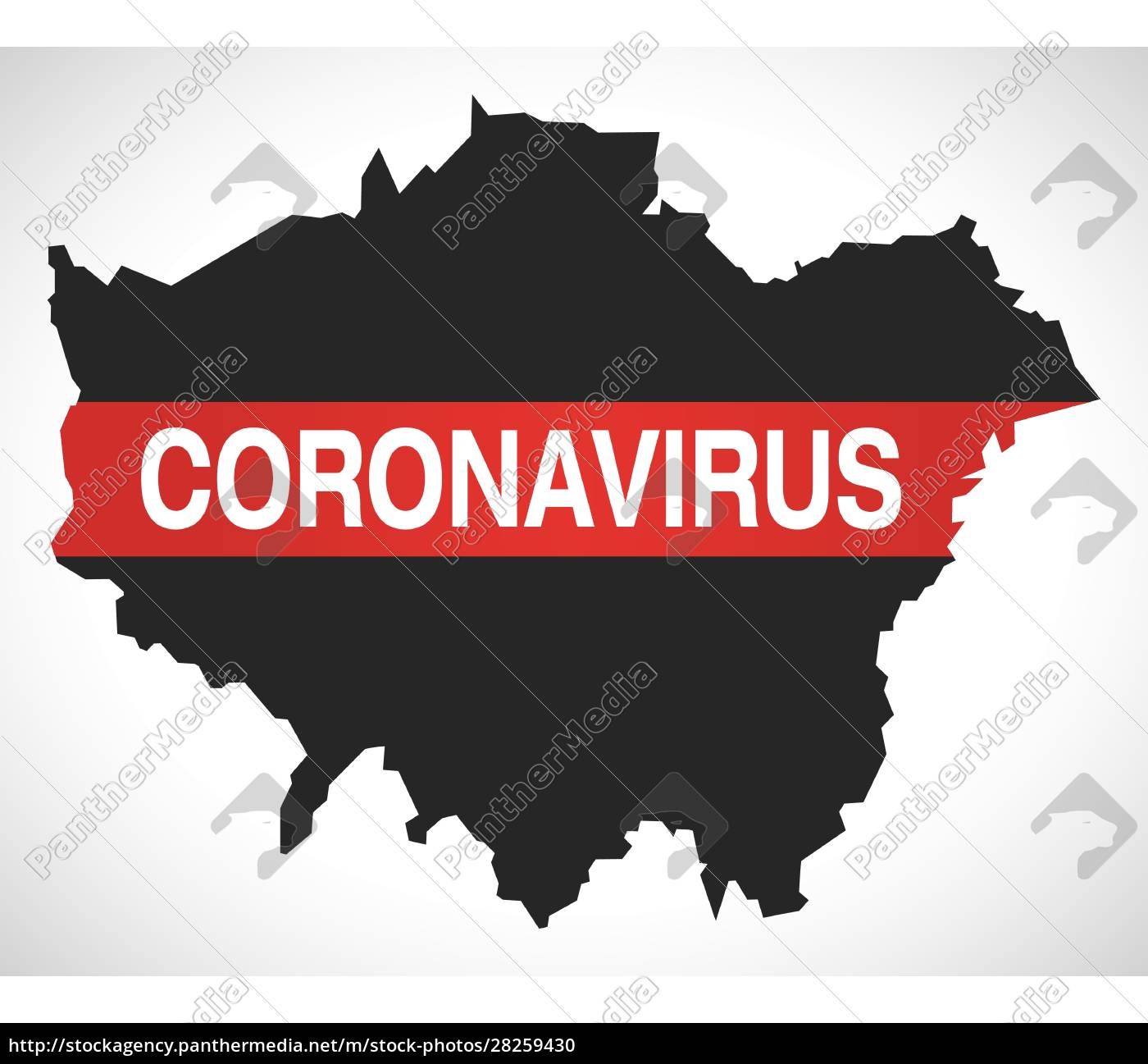 london, england, uk, region, map, with - 28259430