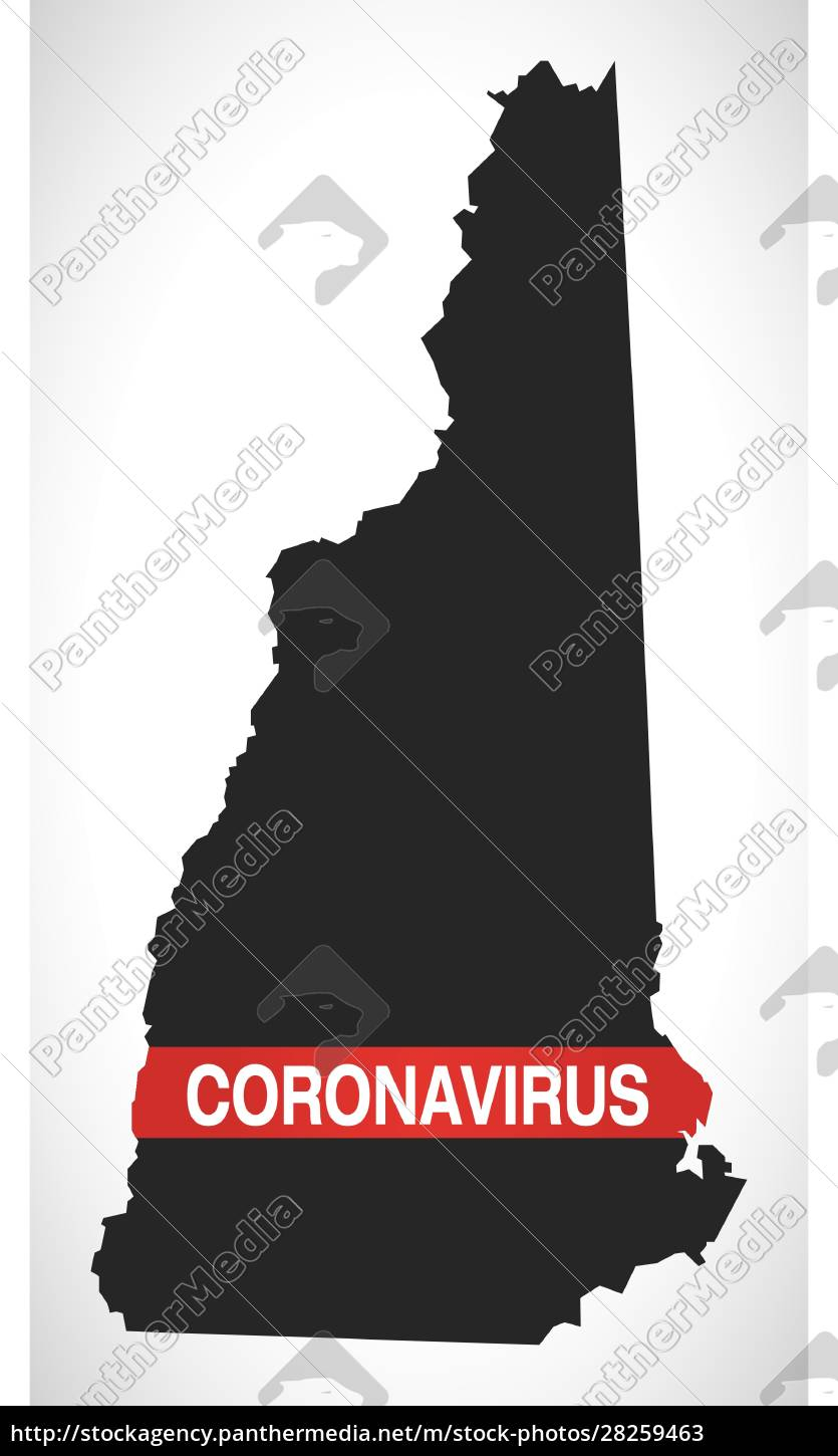 new, hampshire, usa, federal, state, map - 28259463