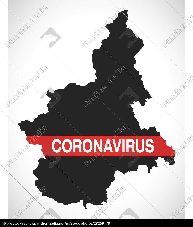 piedmont, italy, region, map, with, coronavirus - 28259179