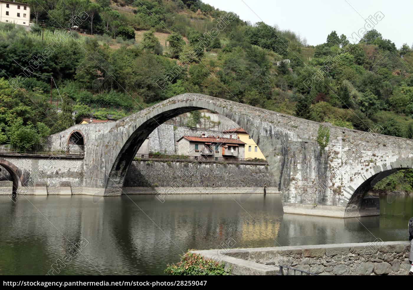 ponte, della, maddalena, across, the, serchio. - 28259047