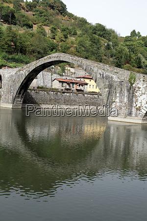 ponte, della, maddalena, across, the, serchio. - 28259068