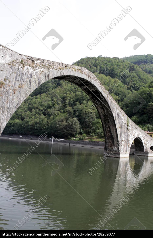 ponte, della, maddalena, across, the, serchio. - 28259077