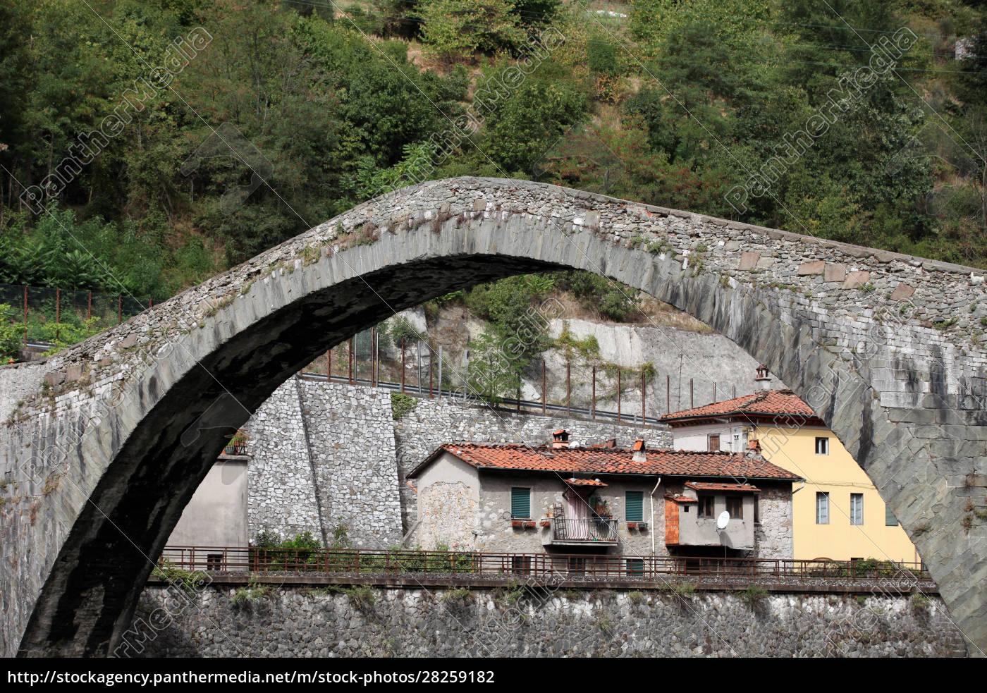 ponte, della, maddalena, across, the, serchio. - 28259182