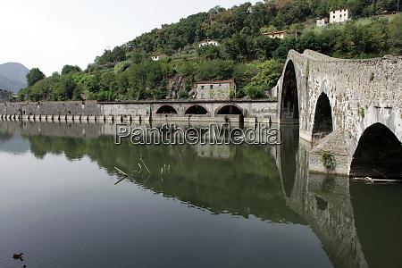 ponte, della, maddalena, across, the, serchio. - 28259216