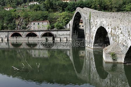 ponte, della, maddalena, across, the, serchio. - 28259217