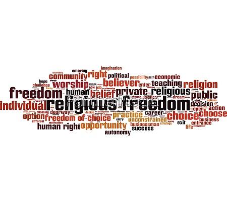 religious, freedom, word, cloud - 28259433