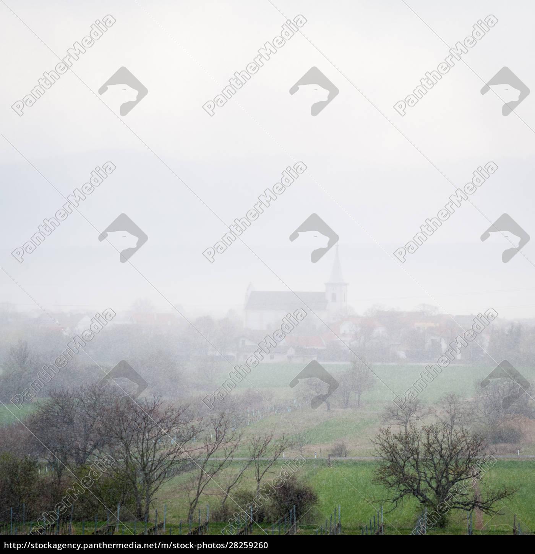 snowfall, in, april, at, village, of - 28259260