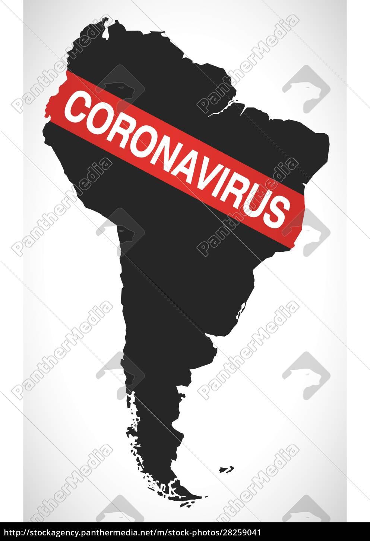 south, america, map, with, coronavirus, warning - 28259041