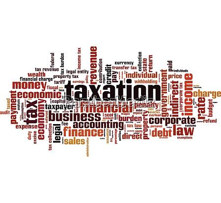 taxation, word, cloud - 28259435