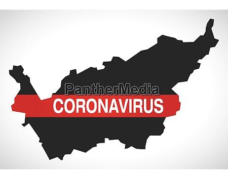 valais, switzerland, canton, map, with, coronavirus - 28259486