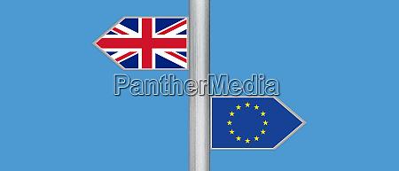 brexit concept united kingdom leave